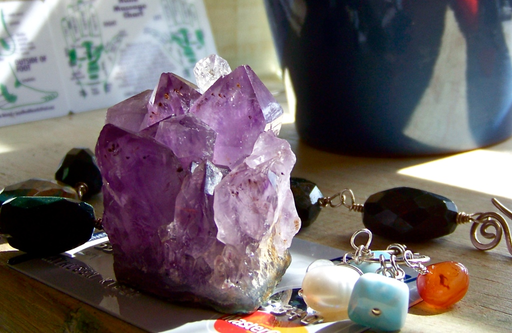 Programing Gemstone Energy Amethyst & Herkimer Diamond