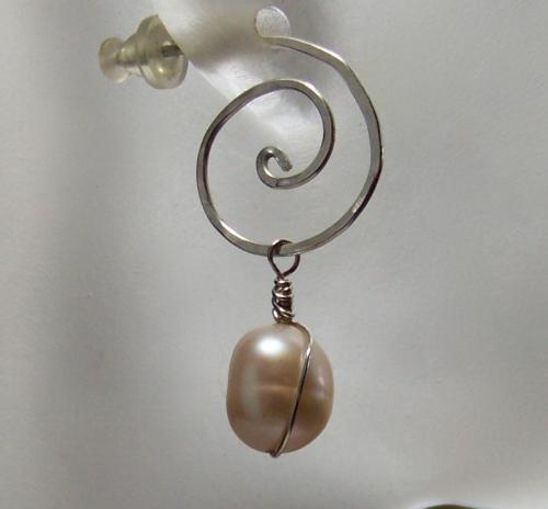 Sterling Silver Rustic Modern Earrings