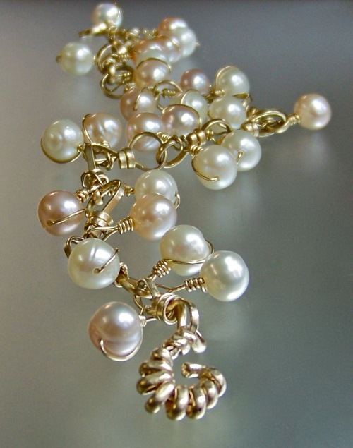 Gold Filled Natural Pearl Bracelet